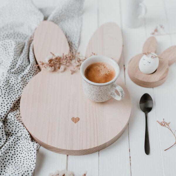 Eulenschnitt | Frühstücksbrettchen Hase