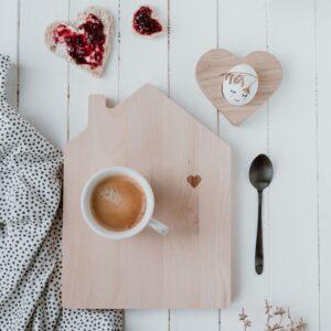 Eulenschnitt | Frühstücksbrettchen Haus