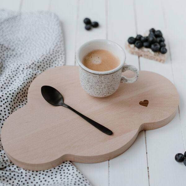 Eulenschnitt | Frühstücksbrettchen Wolke