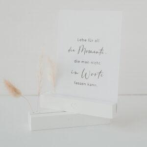 Eulenschnitt   Karten- & Trockenblumenständer